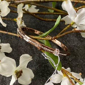 KATE SPADE NWT Pave Rose Gold Bangle Bracelet